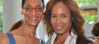 Carla Hall and Paul Wharton at Chefs take a stand