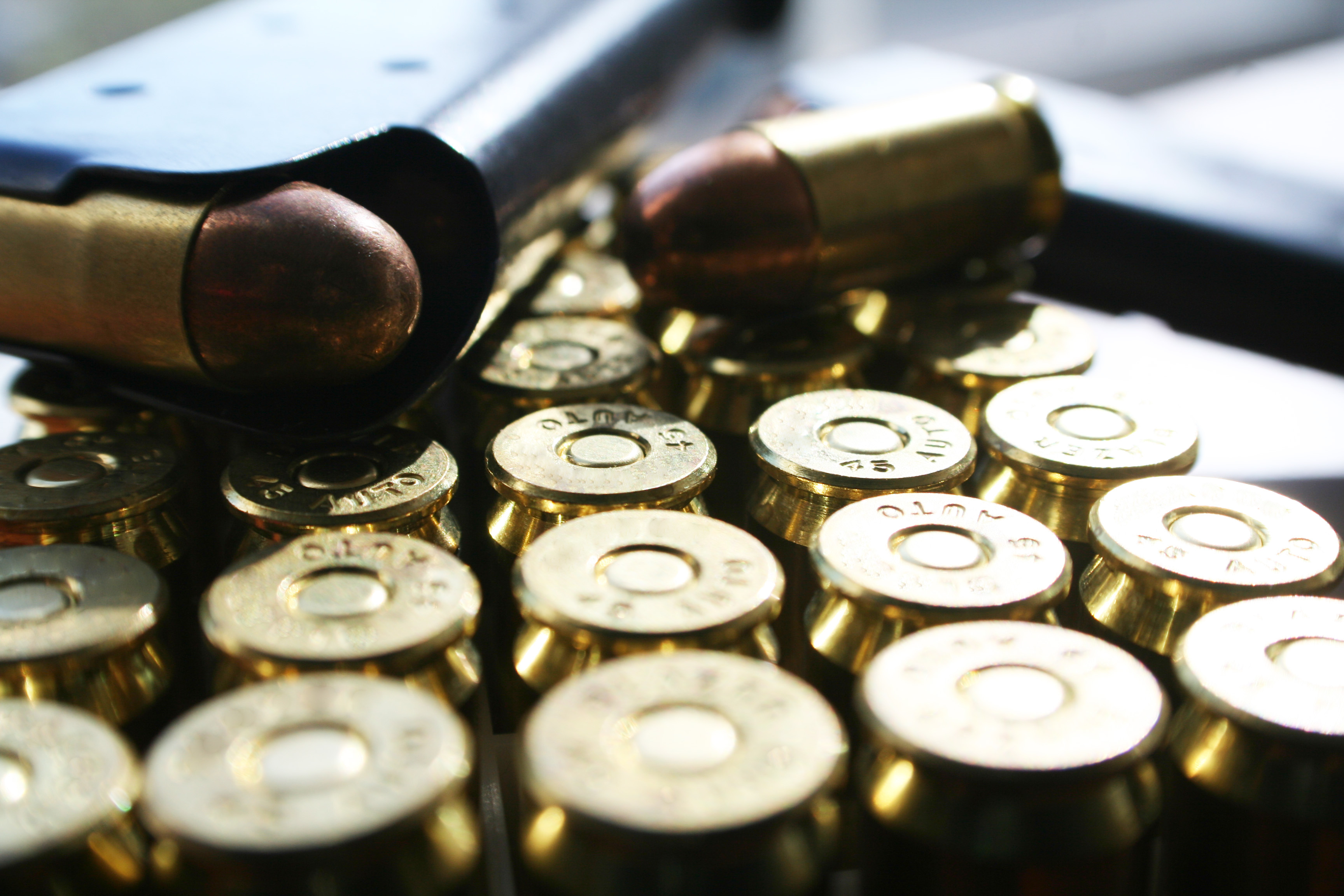 Bullets .45 ACP Stock Photo High Quality