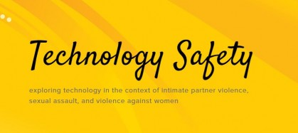 Technology Safety blog title, exploring technology in the context of intimate partner violence, sexual violence and violence against women