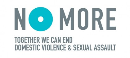 Logo for No More. Together we can end domestic violence and sexual assault