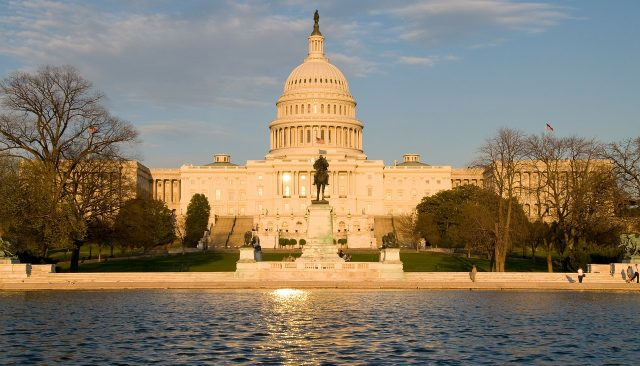US Capitol Building with reflecting pond