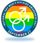 Logo national gay men's HIV/AIDS awareness day September 27