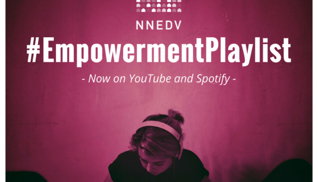Infographic of NNEDV Empowerment Playlist on Youtube and Spotify