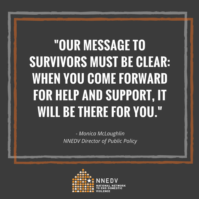 NNEDV Calls On Congress To Support Survivors, Invest In