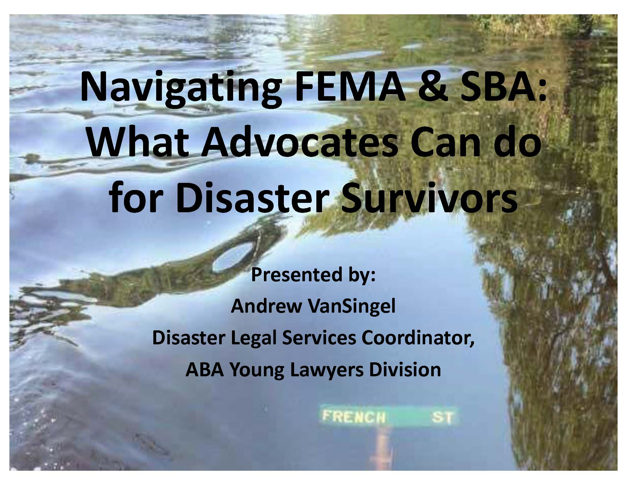 Navigating FEMA and the Small Business Administration – EJ Summit 2018