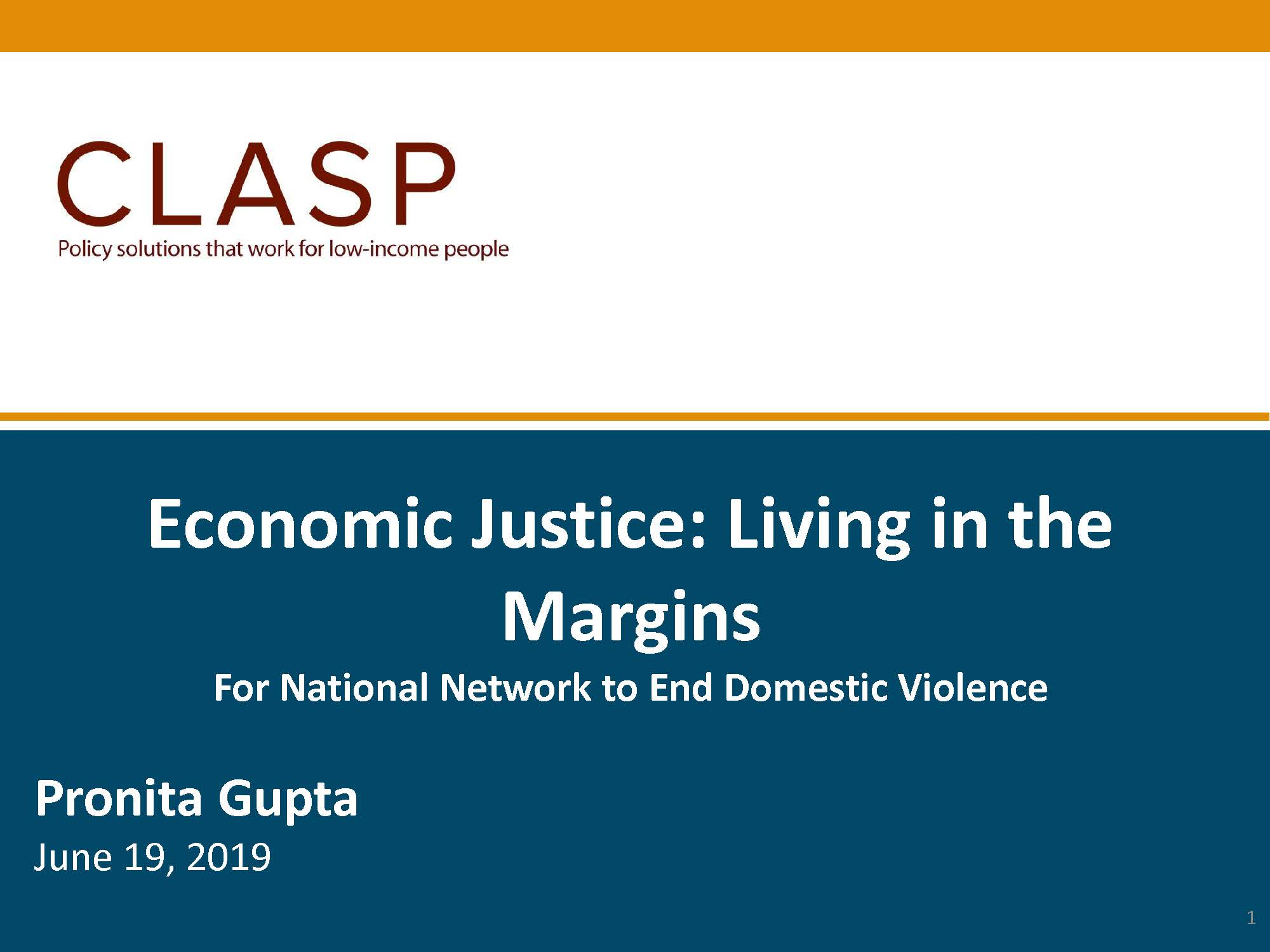 Economic Justice: Living in the Margins – EJ Summit 2019